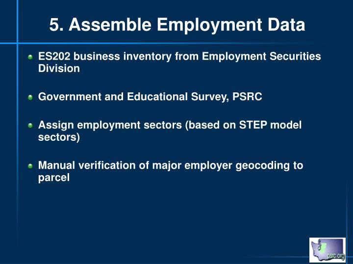 5. Assemble Employment Data