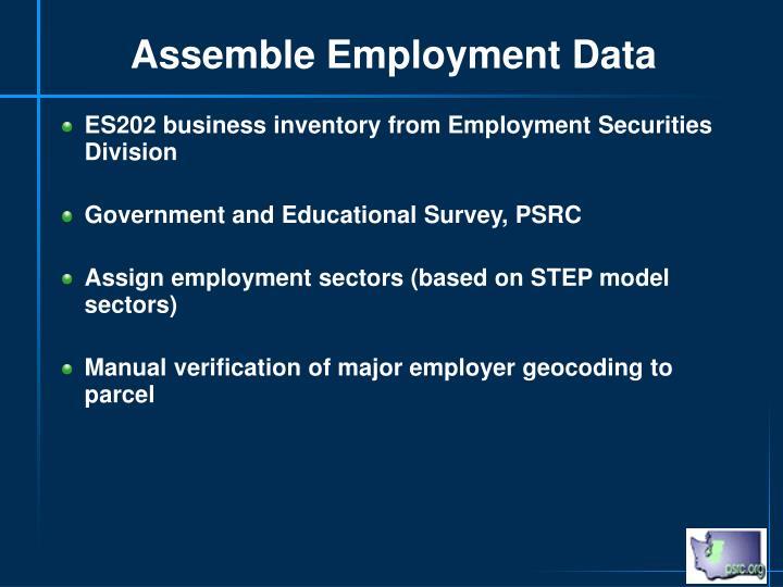 Assemble Employment Data