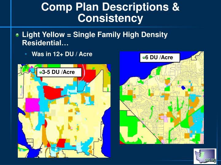 Comp Plan Descriptions & Consistency