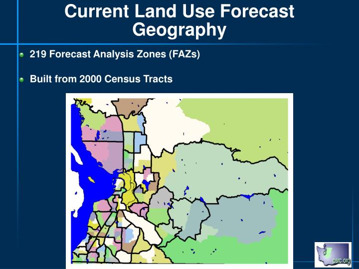 Current Land Use Forecast Geography