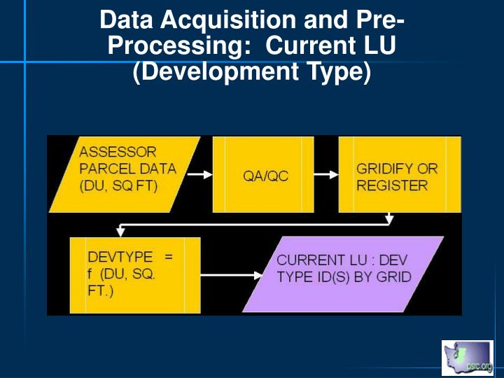 Data Acquisition and Pre-Processing:  Current LU (Development Type)