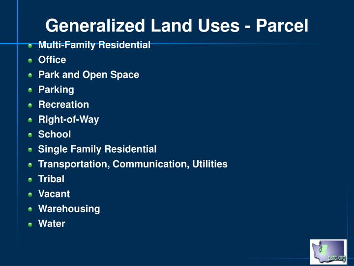 Generalized Land Uses - Parcel