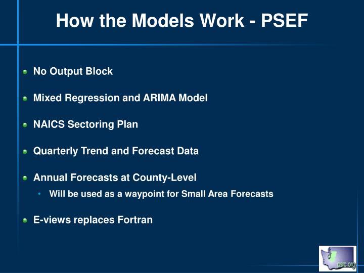 How the Models Work - PSEF