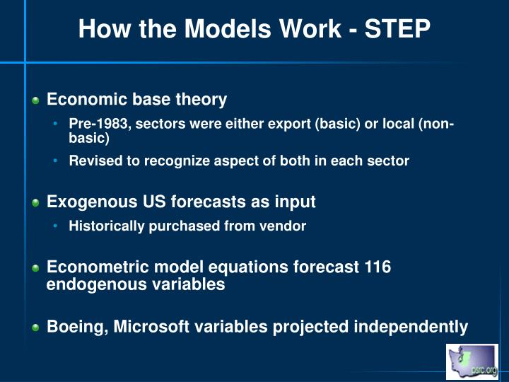 How the Models Work - STEP