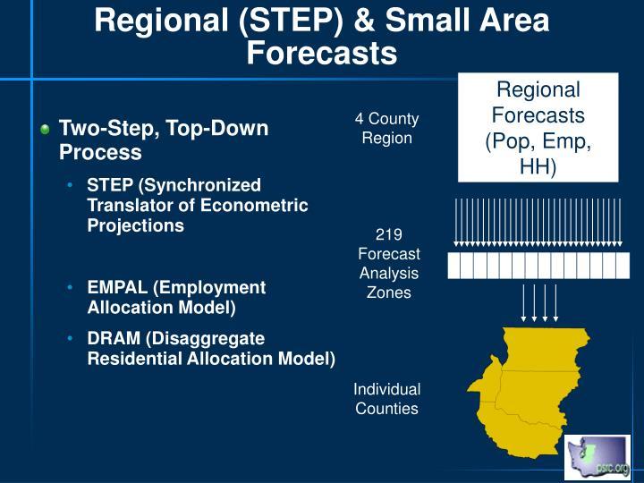 Regional (STEP) & Small Area Forecasts
