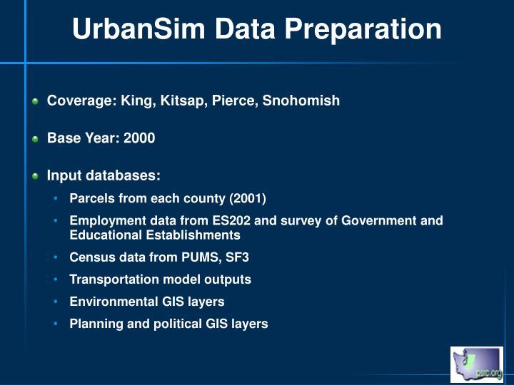 UrbanSim Data Preparation