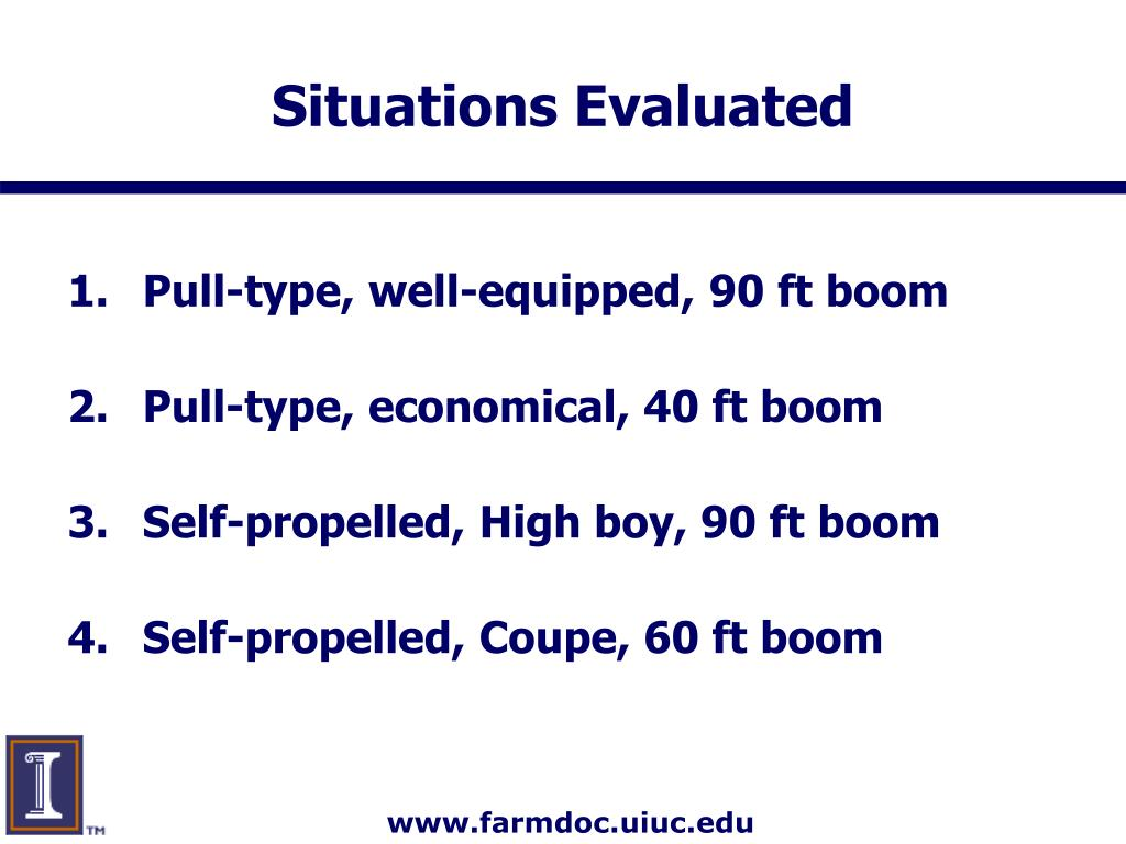 Situations Evaluated