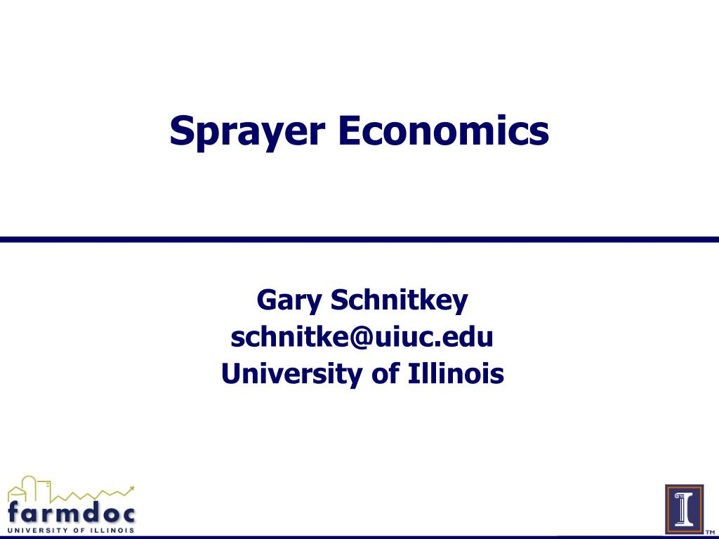 Sprayer Economics