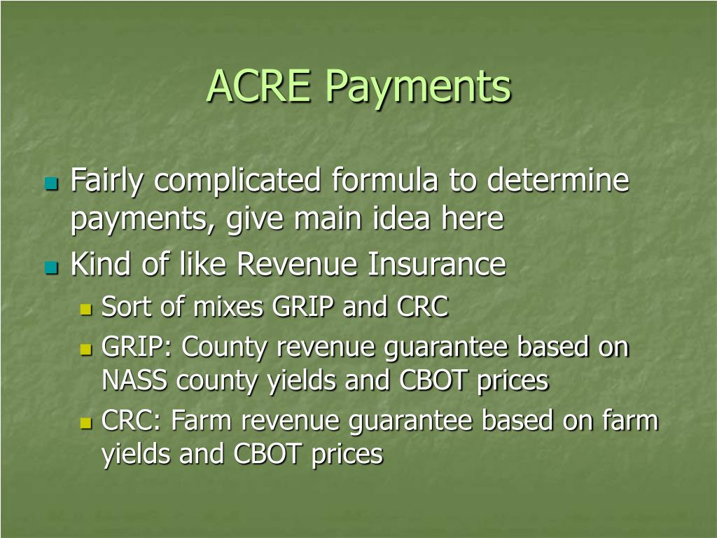 ACRE Payments