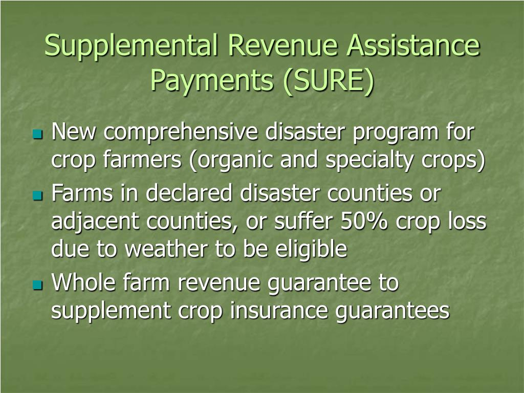 Supplemental Revenue Assistance Payments (SURE)