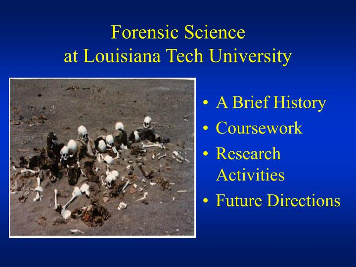 Forensic science at louisiana tech university