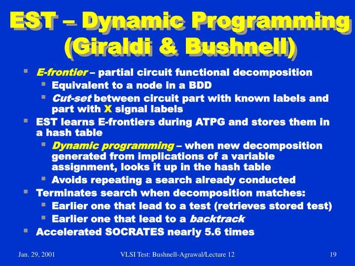 EST – Dynamic Programming (Giraldi & Bushnell)