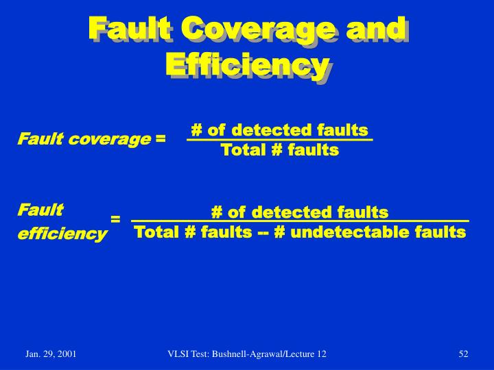 Fault Coverage and Efficiency