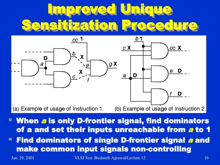 Improved Unique Sensitization Procedure