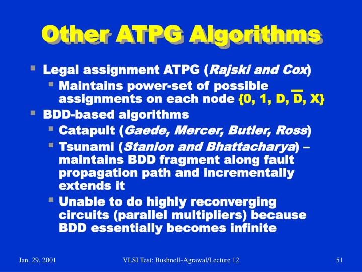 Other ATPG Algorithms
