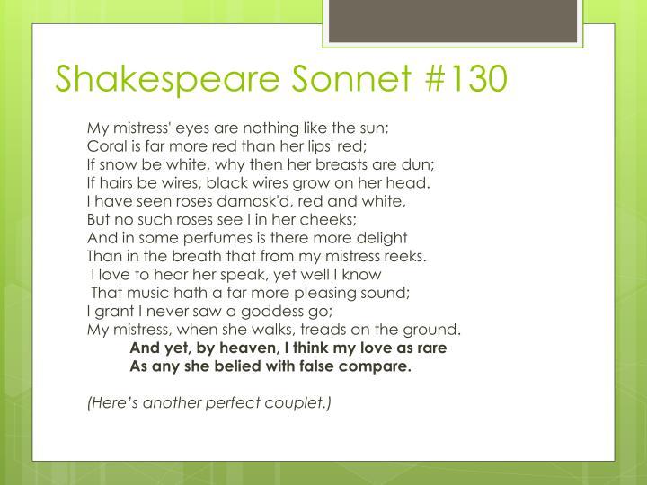 Shakespeare Sonnet #130