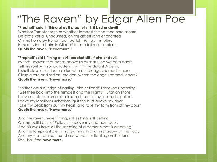 """The Raven"" by Edgar Allen Poe"