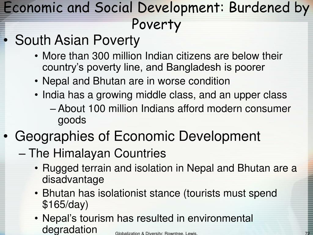 Economic and Social Development: Burdened by Poverty