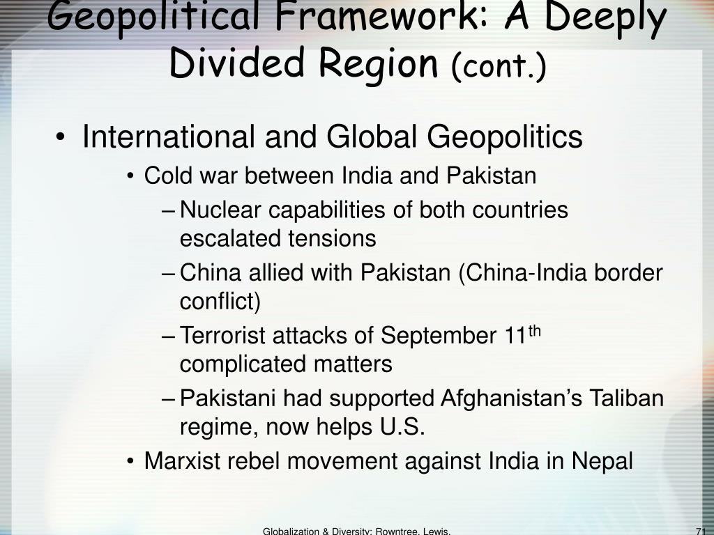 Geopolitical Framework: A Deeply Divided Region