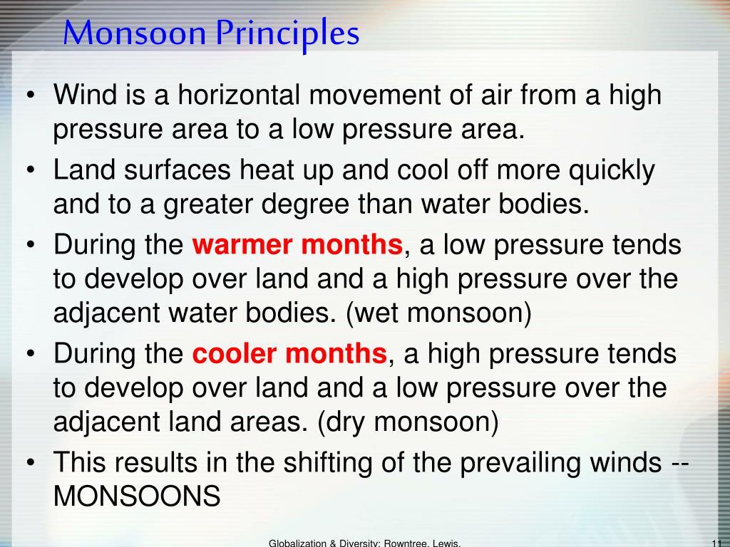 Monsoon Principles