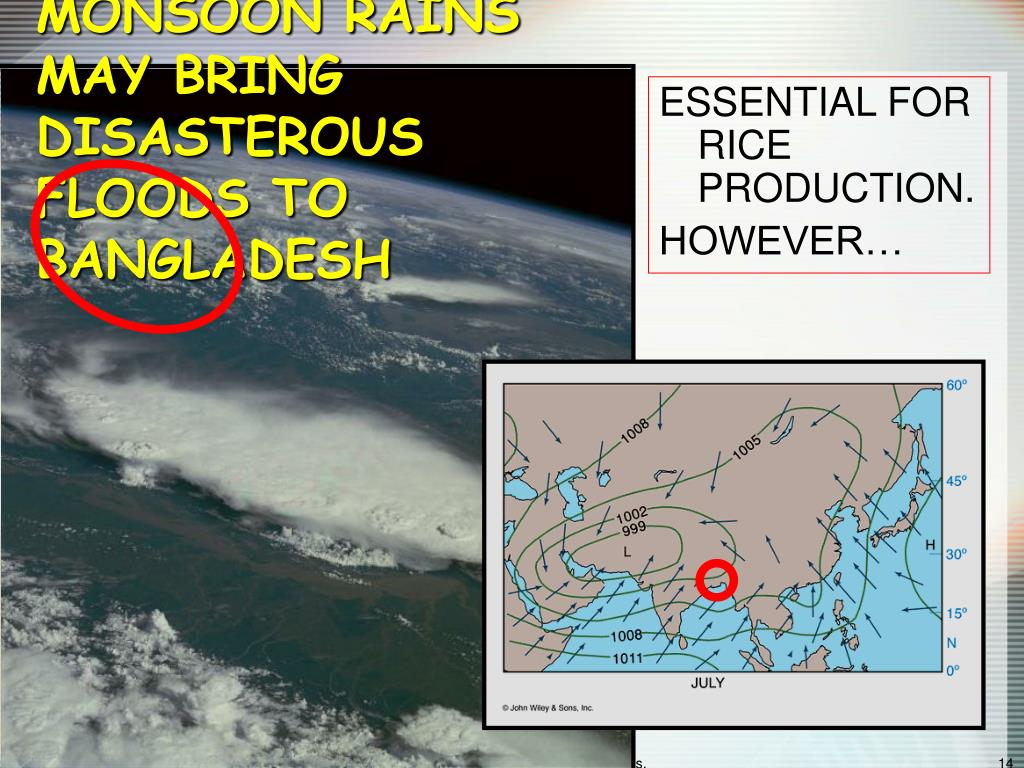 MONSOON RAINS MAY BRING DISASTEROUS FLOODS TO BANGLADESH