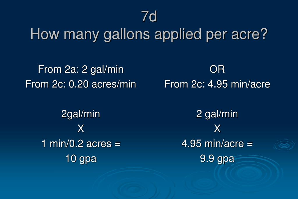 From 2a: 2 gal/min