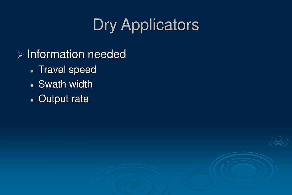 Dry Applicators