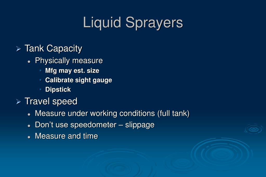 Liquid Sprayers