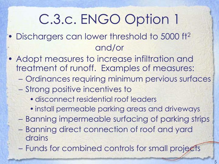 C.3.c. ENGO Option 1