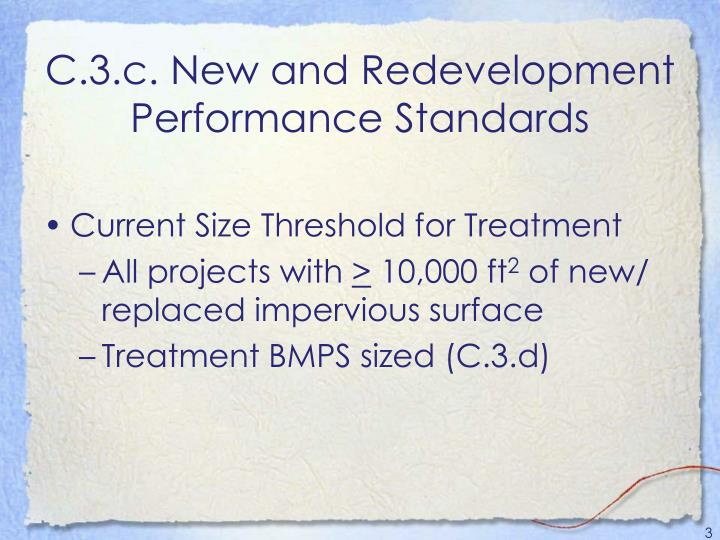C 3 c new and redevelopment performance standards