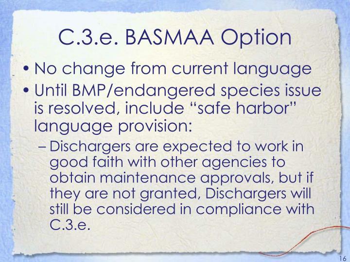 C.3.e. BASMAA Option