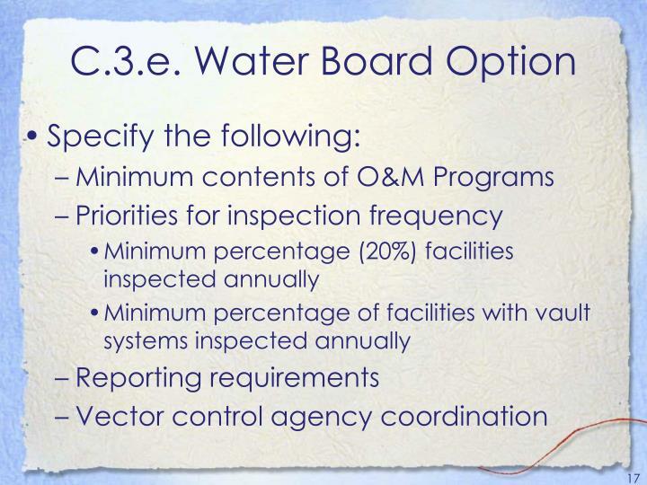 C.3.e. Water Board Option