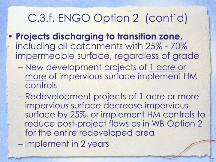 C.3.f. ENGO Option 2  (cont'd)