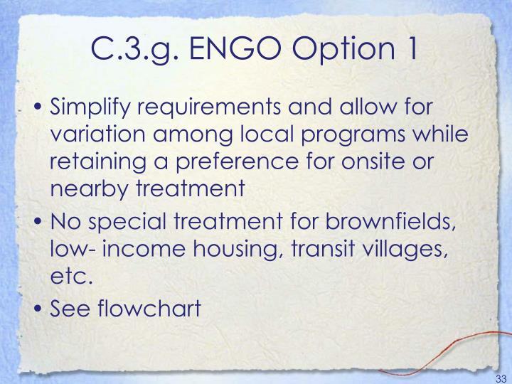 C.3.g. ENGO Option 1