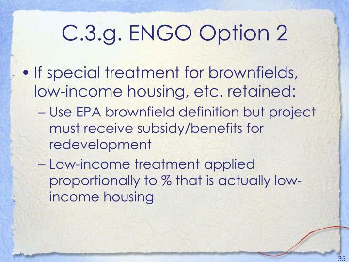 C.3.g. ENGO Option 2
