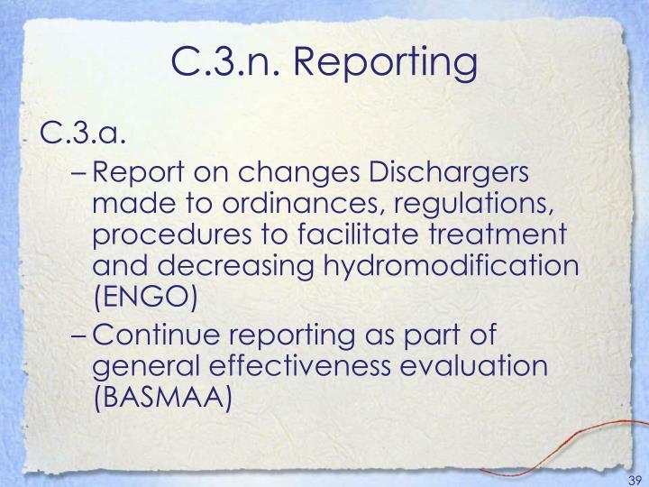C.3.n. Reporting
