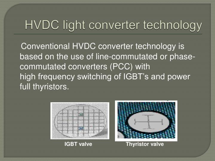 HVDC light converter technology
