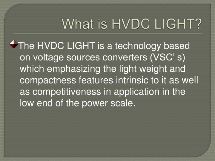 What is HVDC LIGHT?