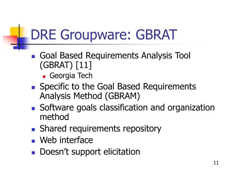 DRE Groupware: GBRAT