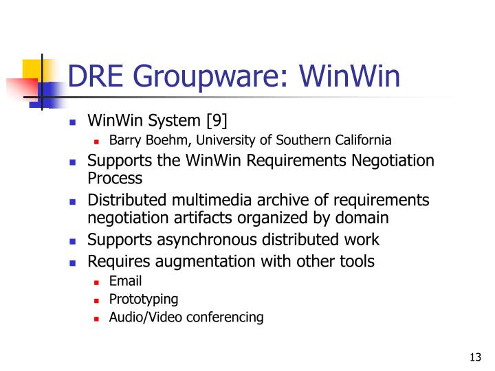 DRE Groupware: WinWin