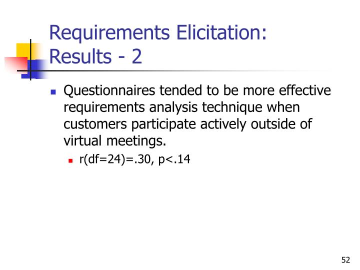 Requirements Elicitation: