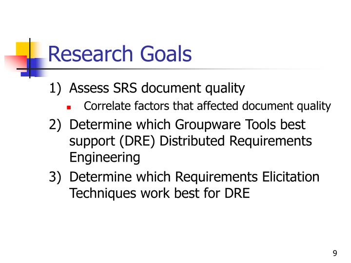 Research Goals