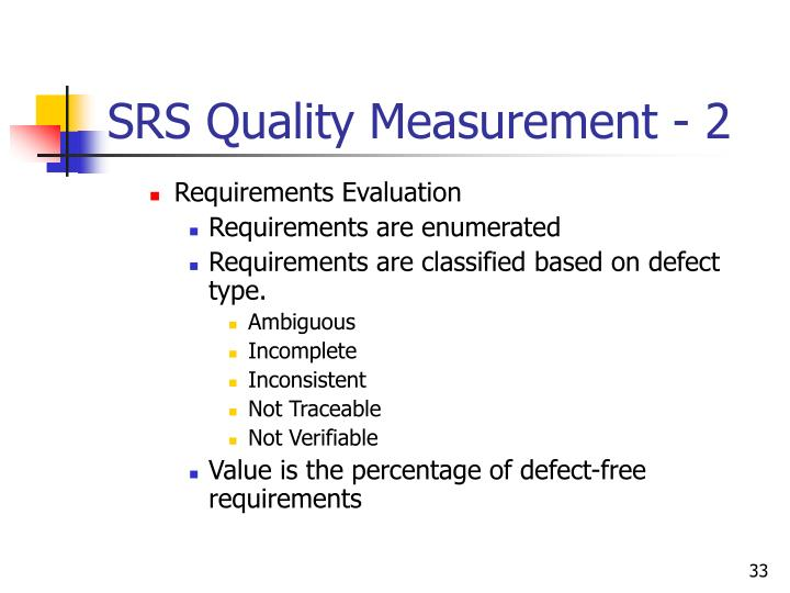 SRS Quality Measurement - 2