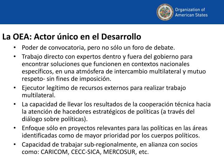 La OEA: Actor único en el Desarrollo