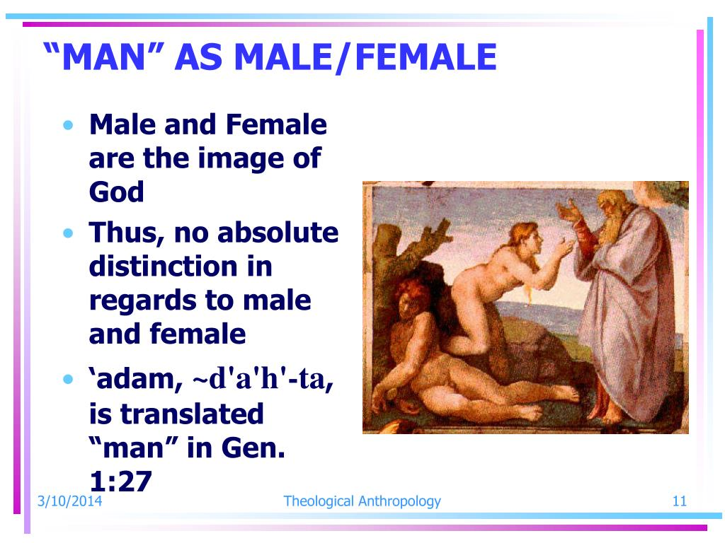 """MAN"" AS MALE/FEMALE"