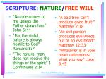 scripture nature free will