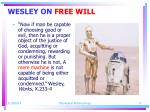 wesley on free will