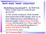 why was man created