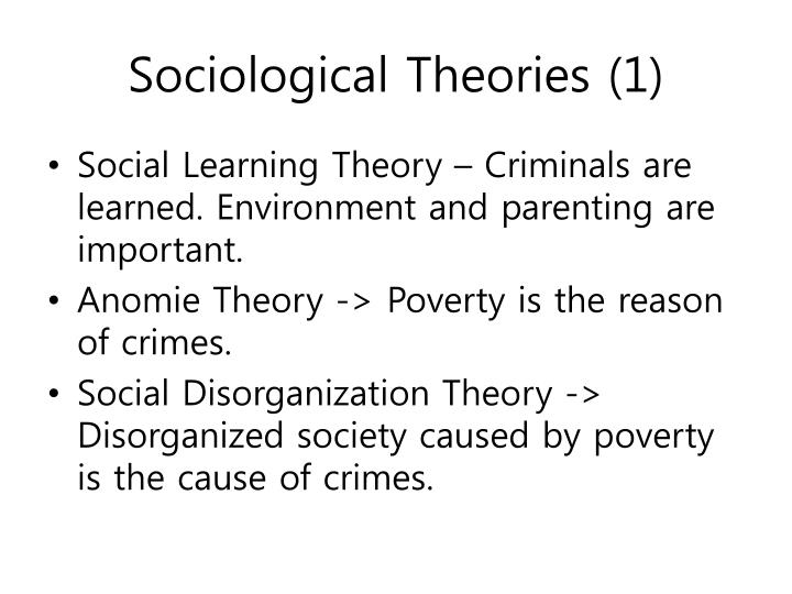 how do choice theories of crime affect society Psychological theories of crime and delinquency 227 sociological and psychological theories, this literature review identifies and synthesizes five major theories in the field of psychology related to crime.
