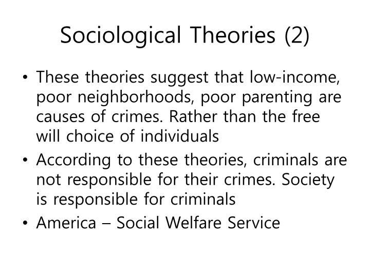 how do choice theories of crime affect society Why do crime rates vary from community to community in this lesson, we'll take a look at sociological theories of criminology, including the.